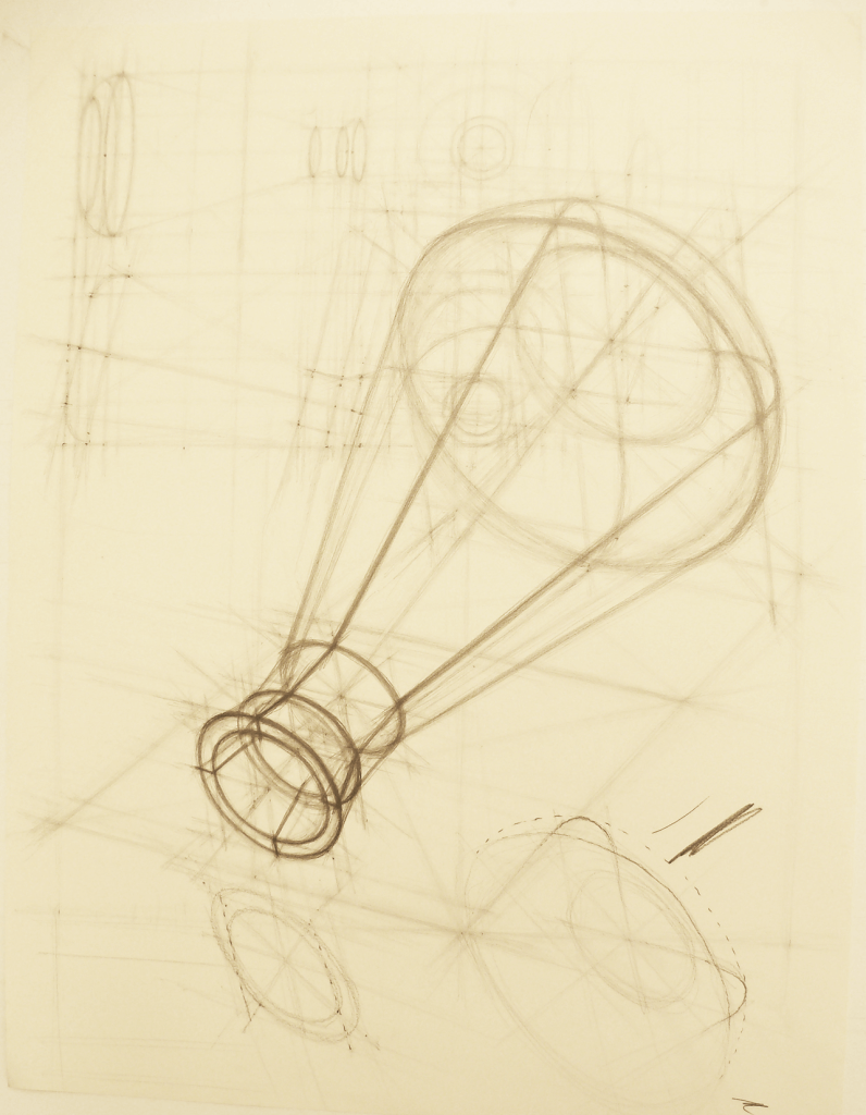 drawing of an erlenmyer flask