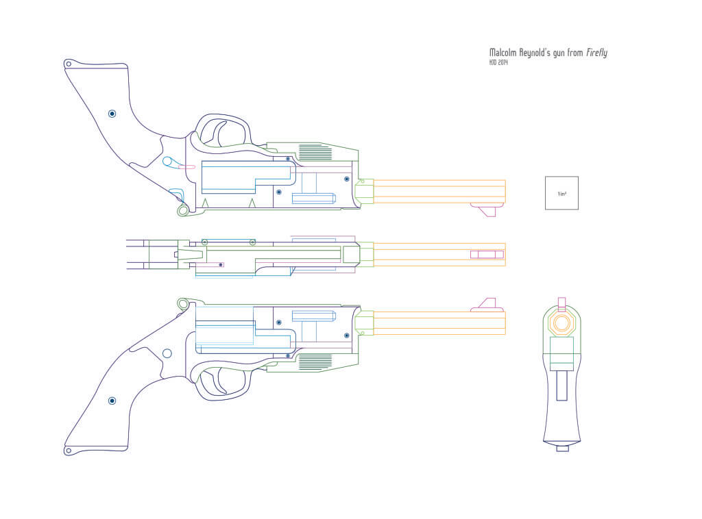 Blueprint of Mal's gun