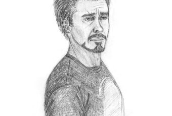 unamused tony sketch